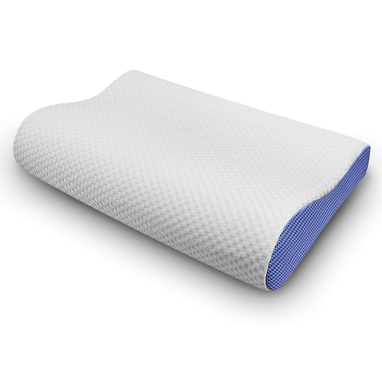 ESEOE Memory Foam Pillow,Orthopedic Contour Pillow for Sleeping,Cervical Side Sleeper Pillow for Relief Neck and Shoulder Pain (Standard)
