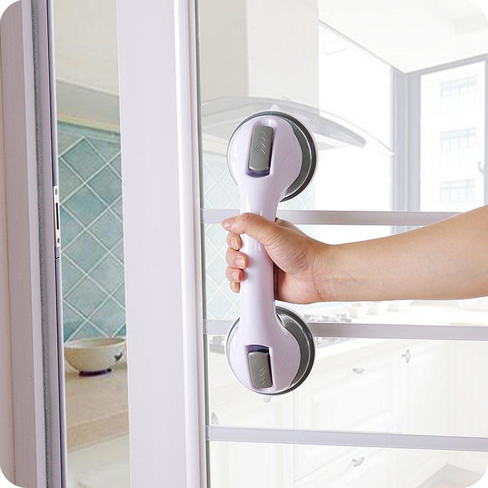 Ghope Grab Bar Suction Shower Handle Pull Door Window Bathroom Balance Bar Safety Hand Rail Support Handicap Elderly Injury Senior Assist Bath Handle Non Skid