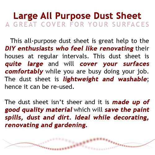 large all purpose dust sheet washable and reusable amazoncouk kitchen u0026 home