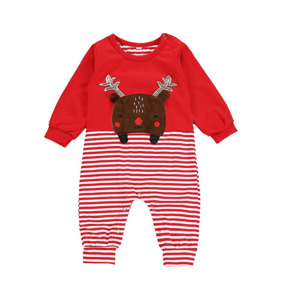 Baby Kids Boys Girls Rompers Long Sleeve Cartoon O-Neck Cotton Jumpsuit Bodysuit