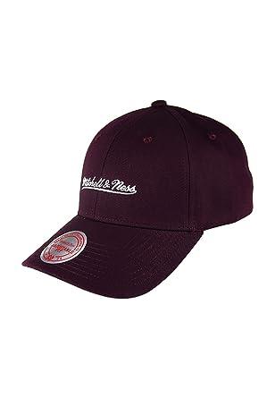 d8a20e3e672 Mitchell   Ness Snapback Cap - Team Logo Low Pro - Burgundy Adjustable