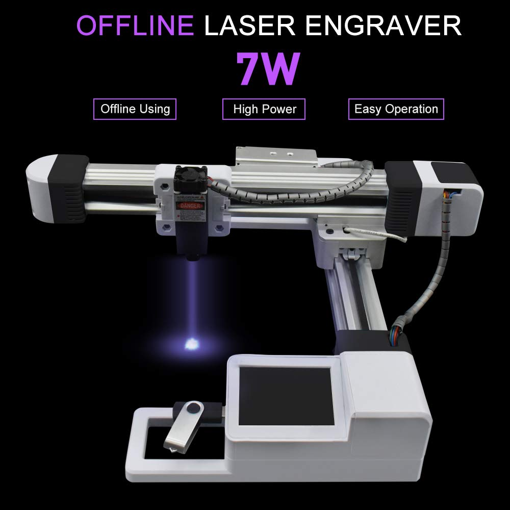 Carving Machine DIY Kit Gravurfl/äche 155X175mm Desktop 7w Lasergravierer Carver einstellbare Carving /& Schneiden mit Schutzbrille