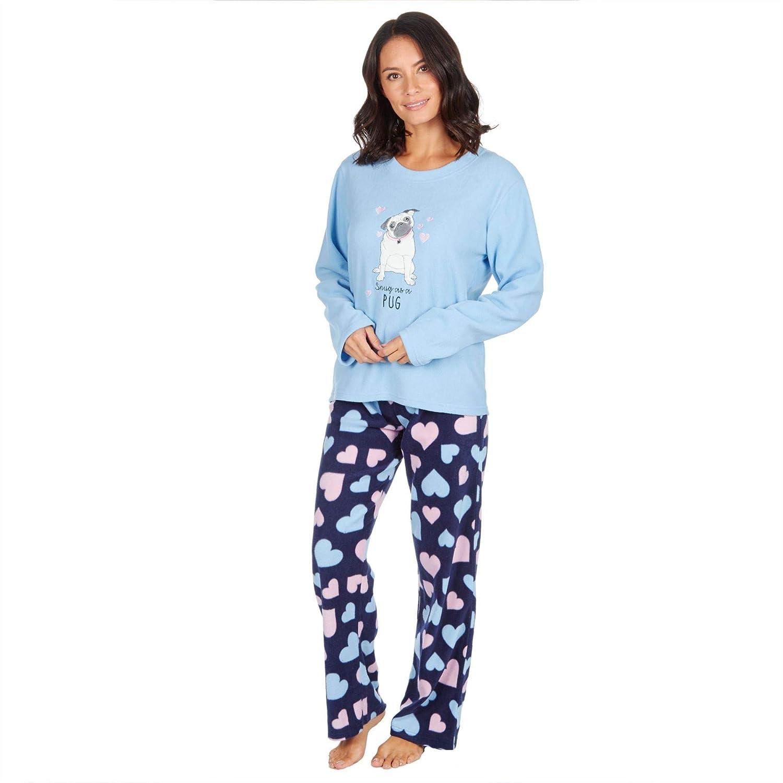 Style It Up - Pijama para Mujer con Estampado de Animales, Forro Polar Suave