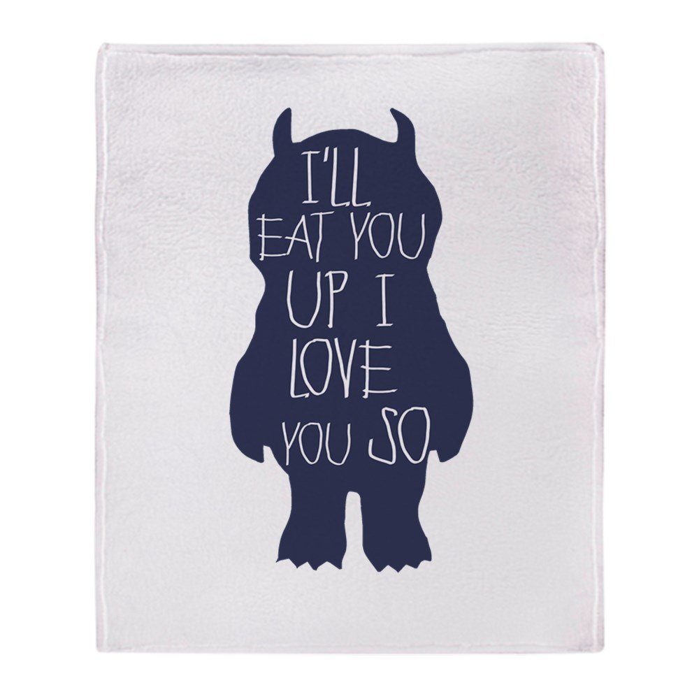 "CafePress - Ill Eat You Up I Love You So - Soft Fleece Throw Blanket, 50""x60"" Stadium Blanket"