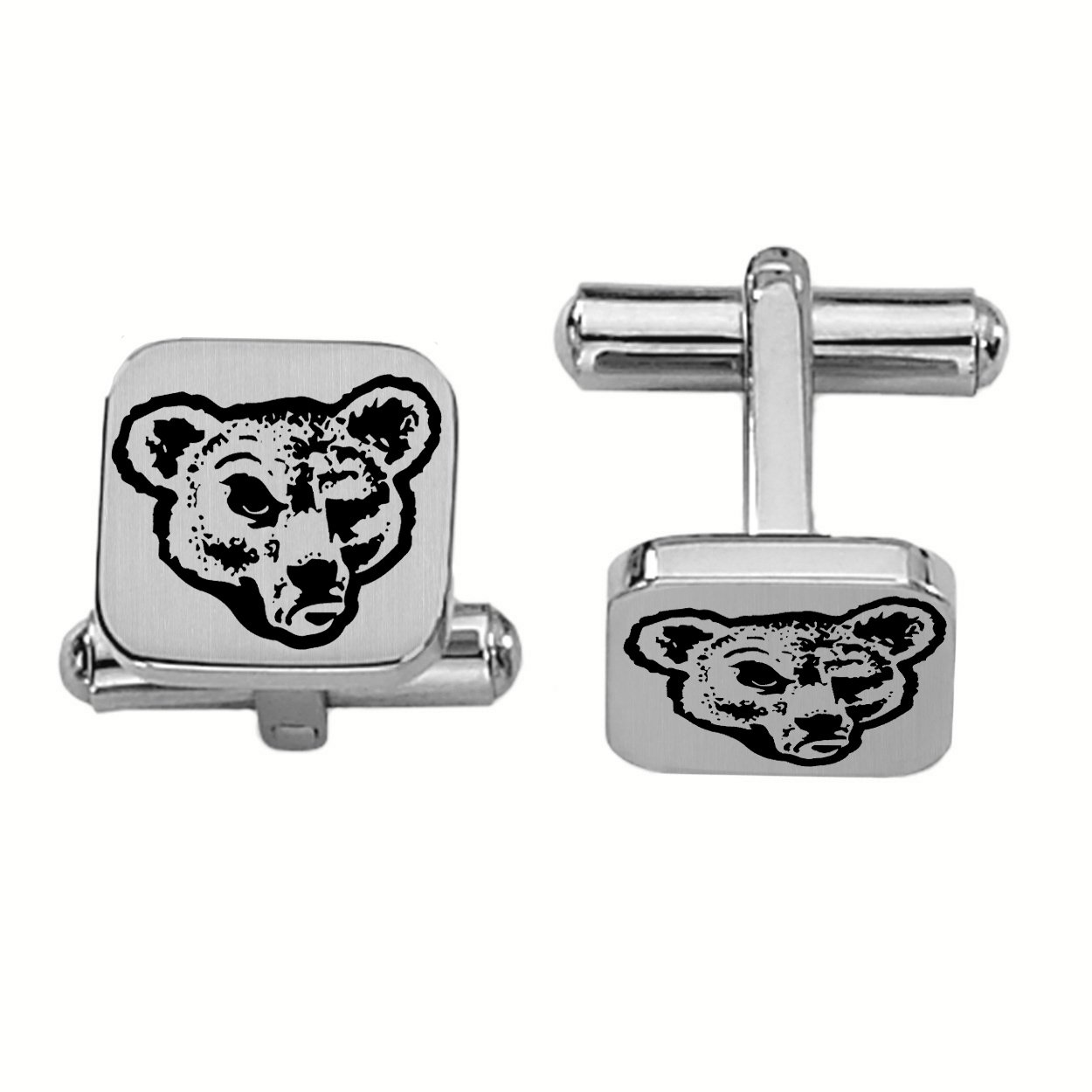 16MM Stainless Steel Brushed Satin Square Cuff Links