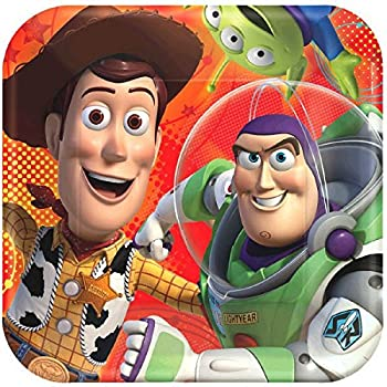 """American Greetings Toy Story 3 Square Plate (8 Count), 9"""""""