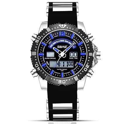 0baea975611b Relojes Deportivos para Hombre Digitales - Relojes Deportivos Impermeables  Al Aire Libre con Banda De Silicona