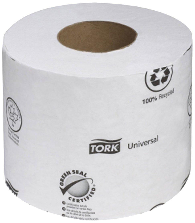 Tork TM1604 Universal 2-Ply Toilet Tissue Roll, White