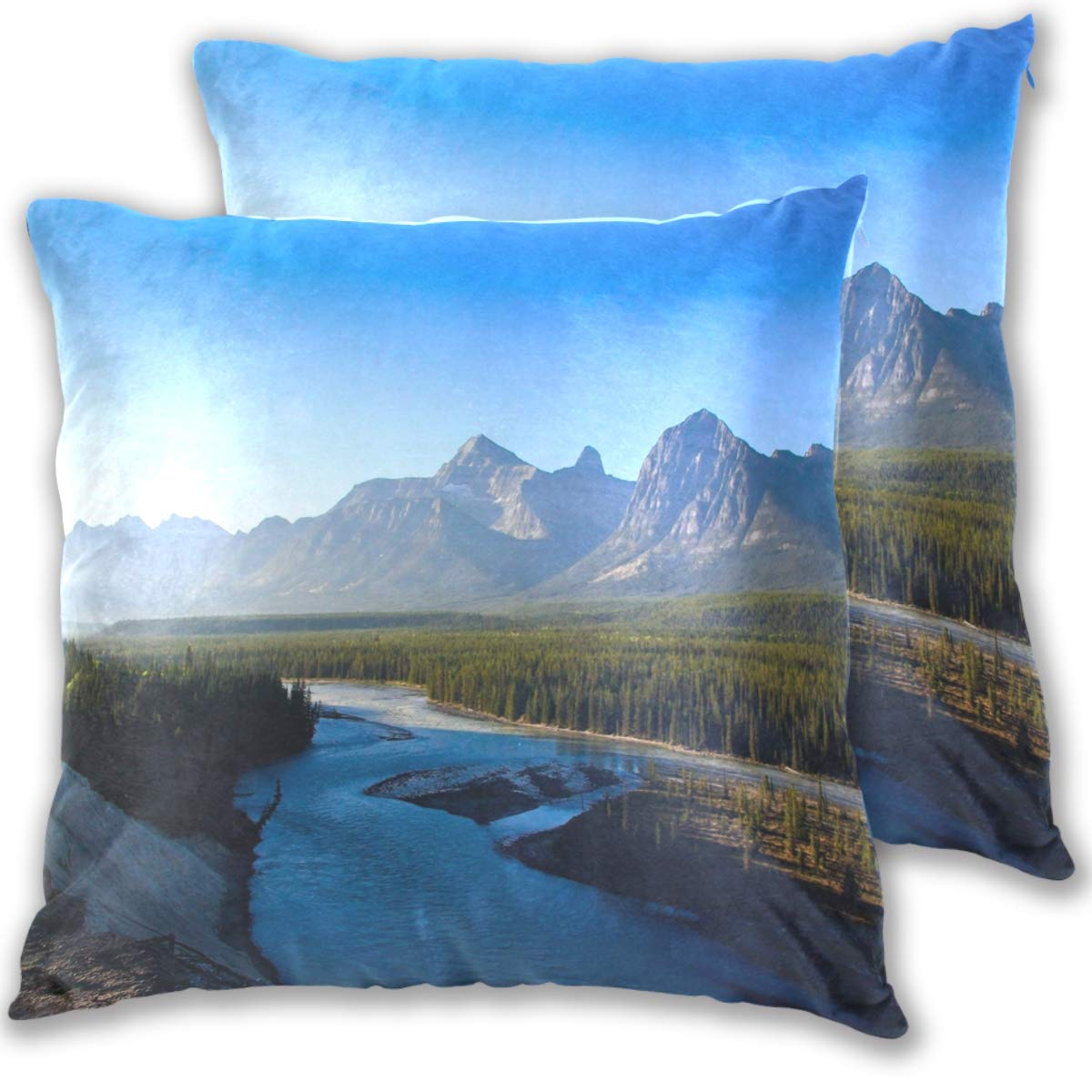 Amazon.com: Forest River Valley Throw Pillow Cover, Cotton ...
