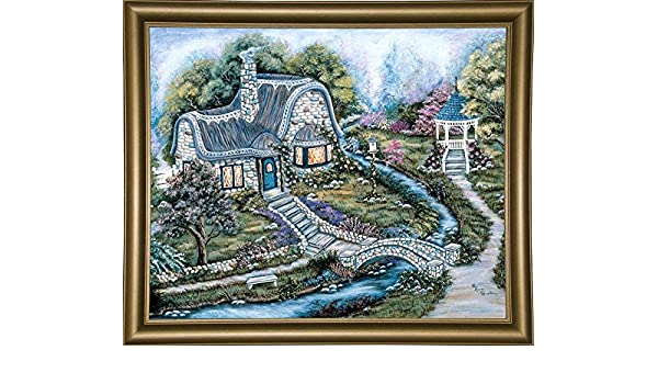 Frame USA Country House-ANNSTO30248 18.25x24.25 by Ann Stookey in a Bistro Gold Print 18.25x24.25