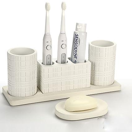 weiyu Porta Cepillo de dientes eléctrico lavabo en copa cepillado lavar Lavabo conjunto taza de baño