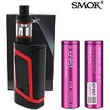 GENUINE SMOK ALIEN KIT COLLECTION 220W w/ 2 X EFEST-VAPORCOMBO Exclusive 3000 mAh Battery E-Cigarette 2mL TPD Compliant (Black/Red)