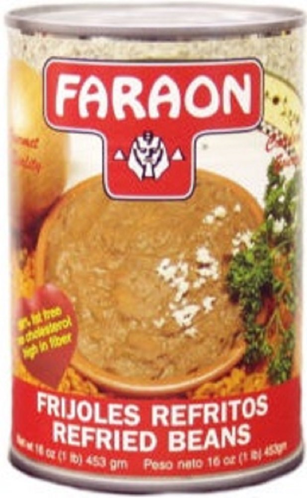 FARAON Refried Beans, 16 Ounce (Pack of 24)