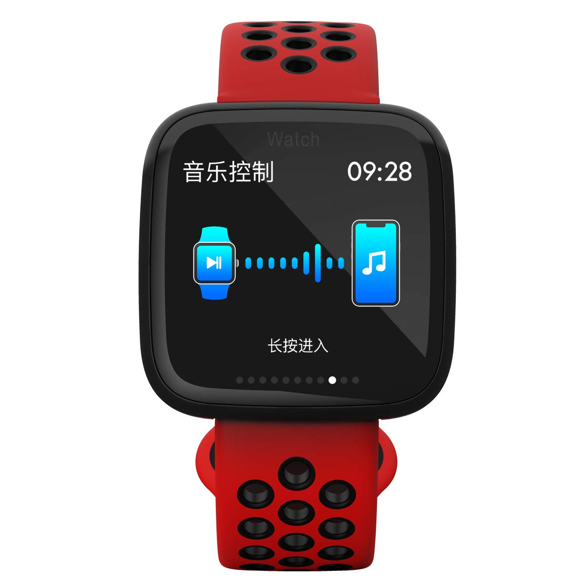 Amazon.com: F15 Bluetooth Sports Smart Watch Heart Rate Blood Pressure Blood Oxygen Fitness Machine Wristband for Android iOS (Black red): Cell Phones & ...