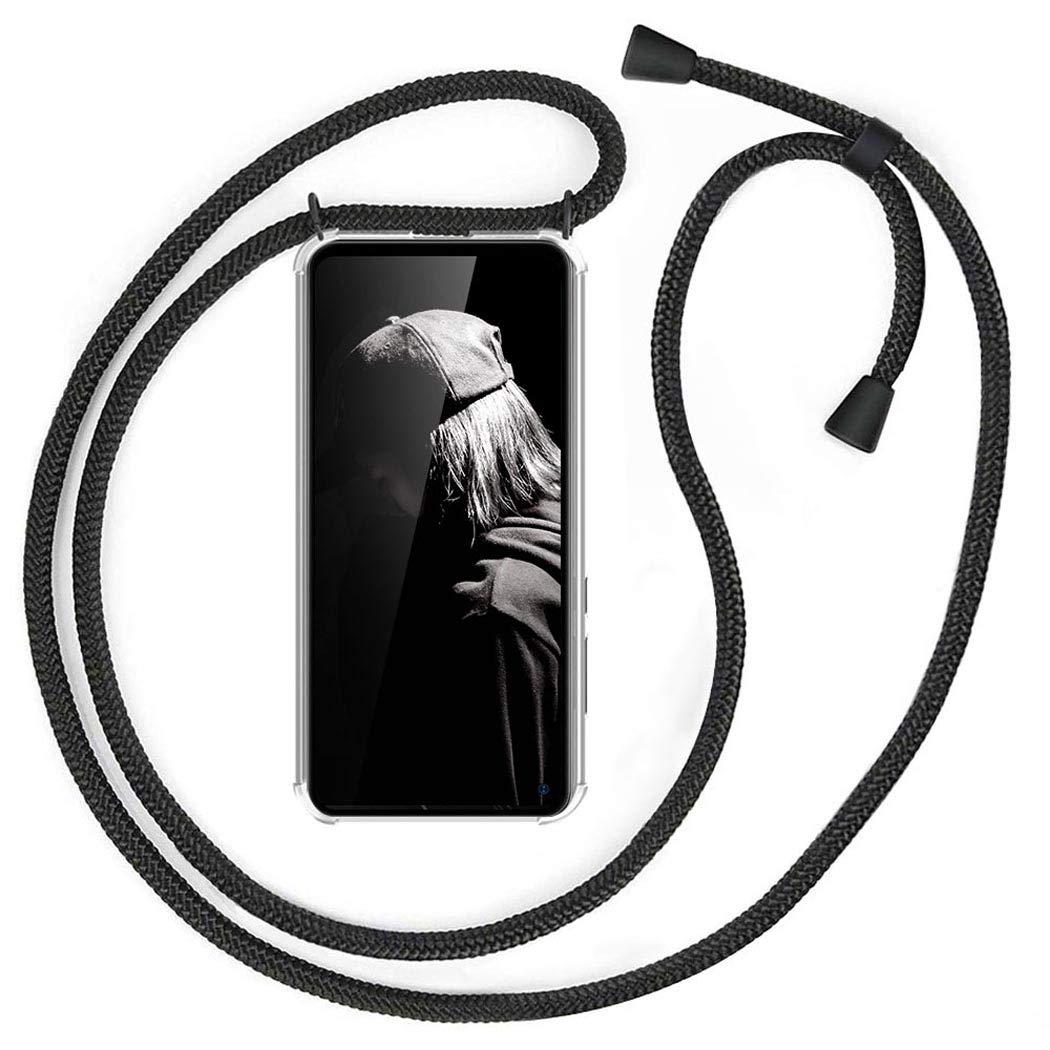 Gris con Cordon para Llevar en el Cuello Case con Correa Colgante//TPU Necklace con Banda MXKOCO Carcasa de movil con Cuerda para Colgar Samsung Galaxy J7 2016//J710