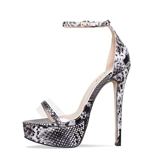 3057dbe55f3 Onlymaker Women's Sexy High Heel Stiletto Sandals Platform Pumps Ankle  Strap Open Toe Single Band Dress Party Shoes