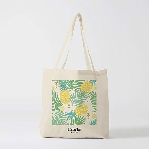 Bolso de tela de piña tropical, bolsa de pañales de algodón, bolso ...