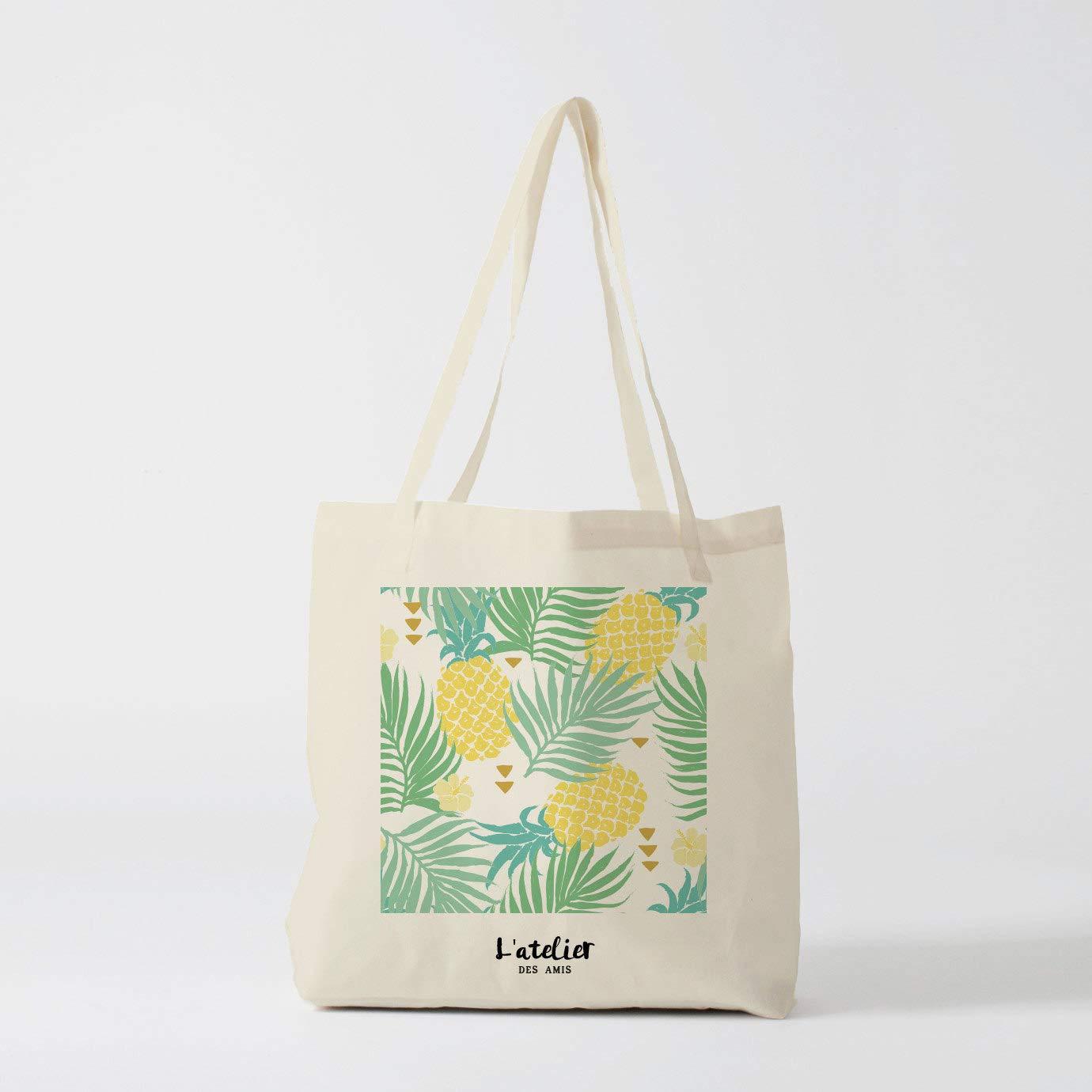Bolso de tela de piña tropical, bolsa de pañales de algodón ...