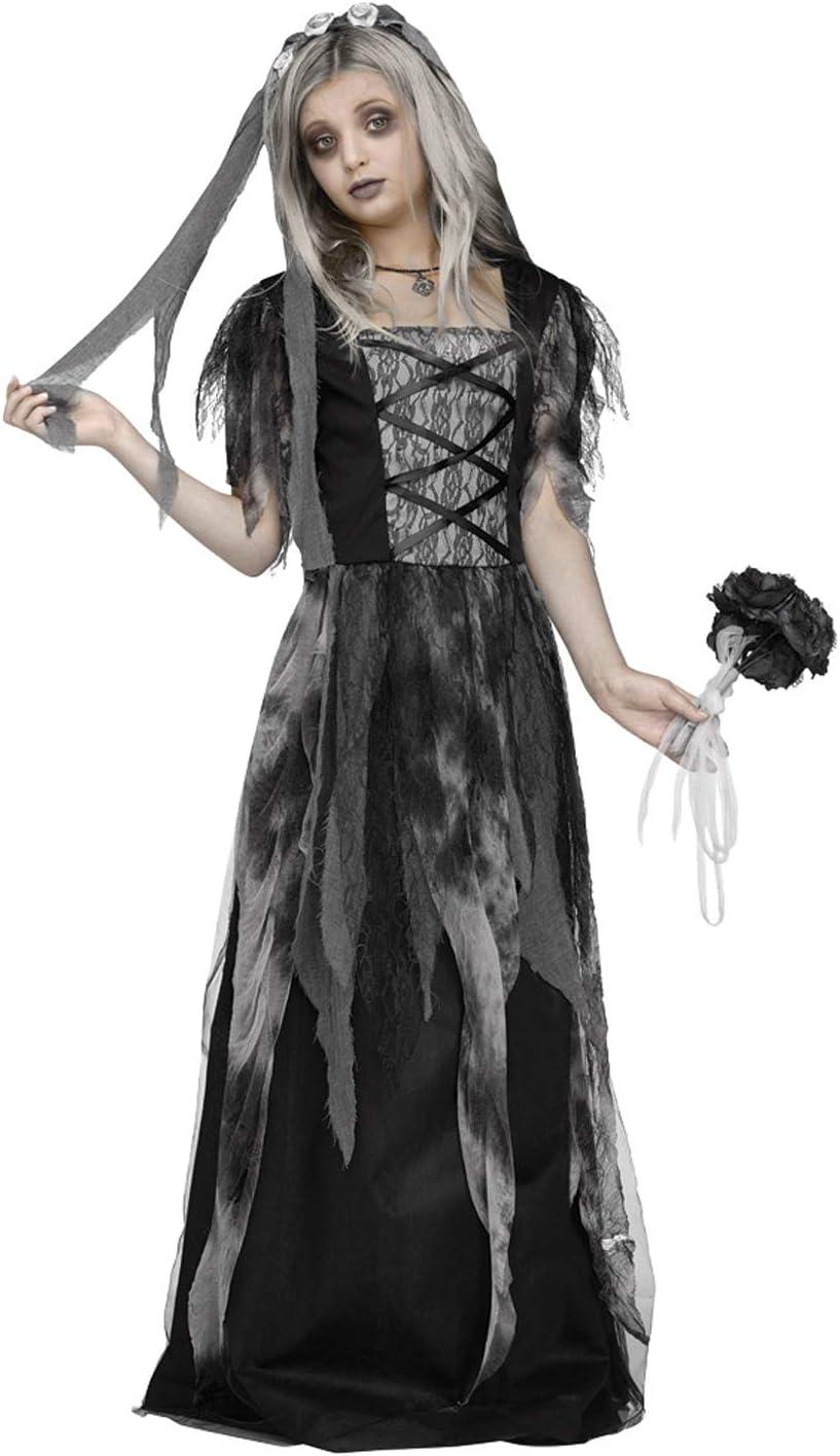 X-Large Fun World Cemetery Bride Child Costume Multicolor