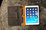 Personalized distressed leather iPad cover case organizer for iPad Pro 9.7 12.9