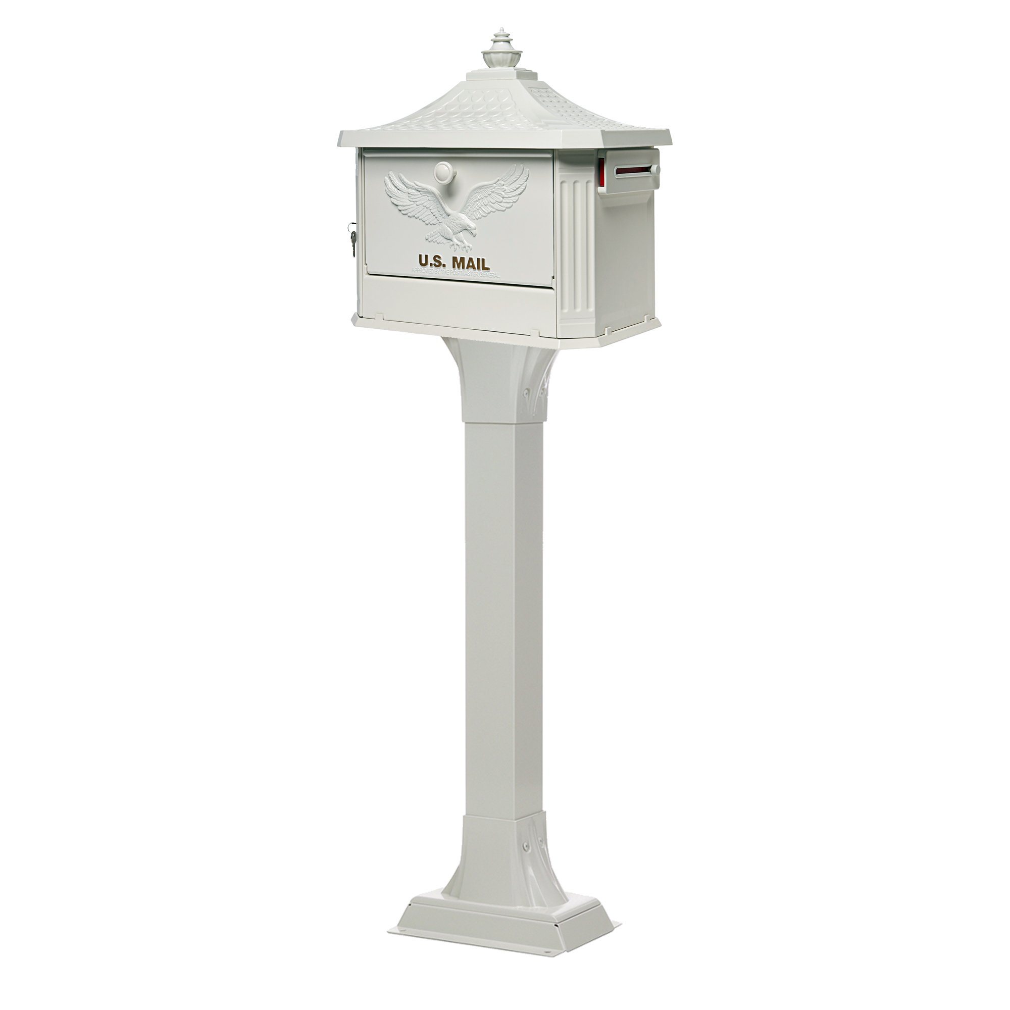 Gibraltar Mailboxes HEK00W01 Hemingway Security Mailbox, Large, White