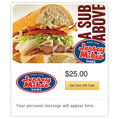 Jersey Mikes Gift Cards Configuration Asin   Email Delivery