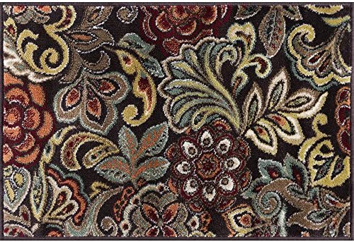 Dilek Contemporary Abstract Brown Scatter Mat Rug, 2 x 3