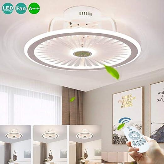 LED 56W Ventiladores De Techo Silenciosos Lámpara De Techo Con ...