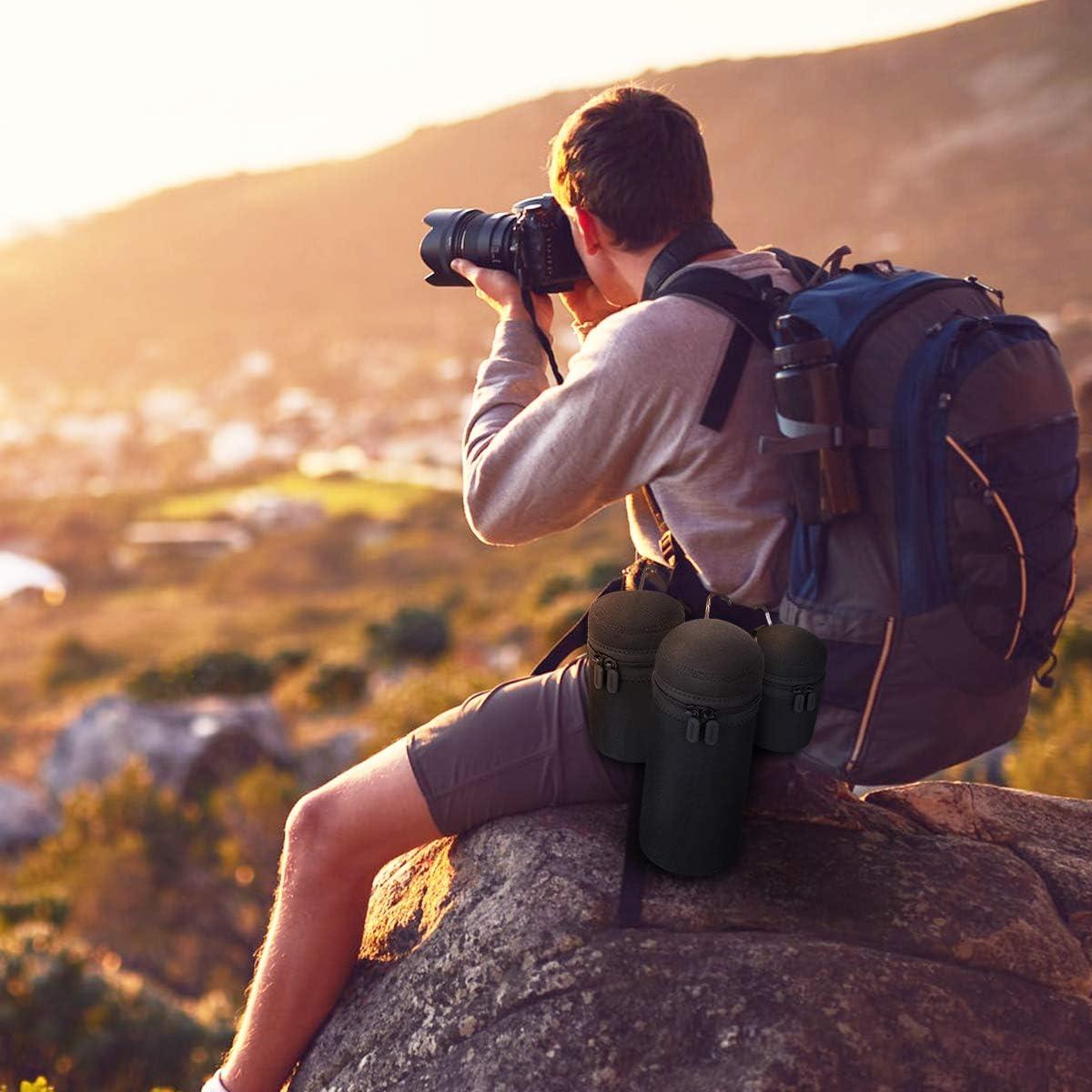 Schwarz /& Grau 5mm Dicke Wasserabweisend und Sto/ßd/ämpfend f/ür DSLR-Kameraobjektiv 4 Gr/ö/ßen Neopren Objektivbeutel wasserdichte Schutzbeutel f/ür Kamera Objektiv ARVOK Objektivtasche