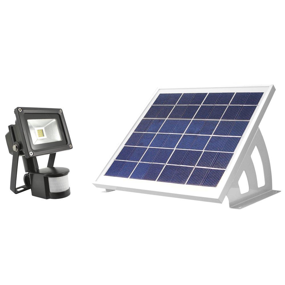 solar flood outdoor light led lights security powered