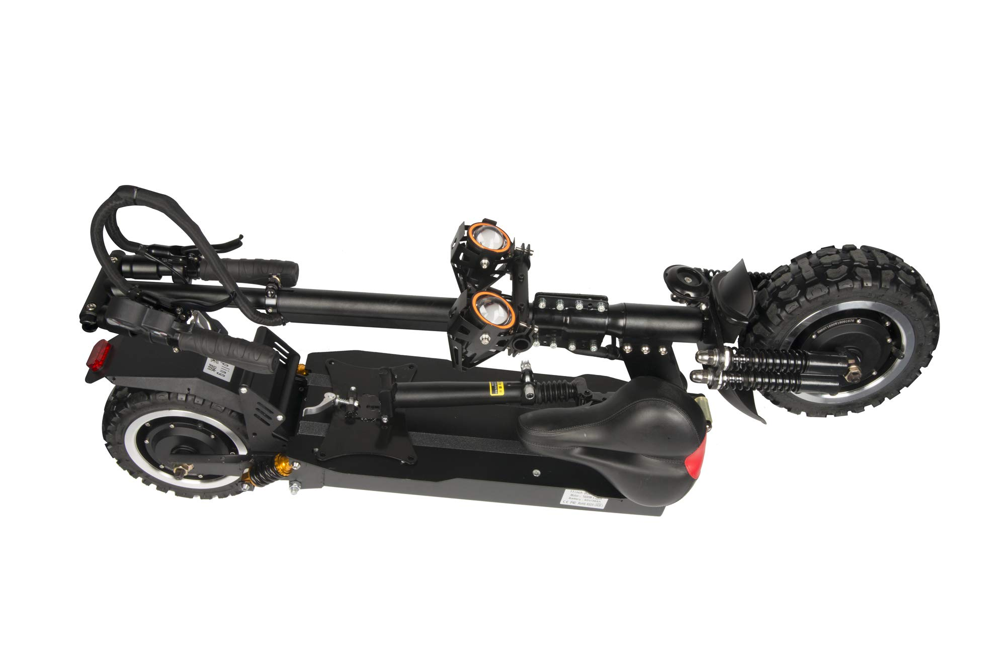 Comprar NANROBOT RS2 2400 W Patinete eléctrico Ligero Plegable con batería de Largo Alcance DE 45 Millas de hasta 40 mph (Patinete eléctrico)