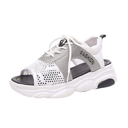 f7ad407ee2bad Amazon.com: ❤ Mealeaf Women Summer Sandals Wedges Platform ...