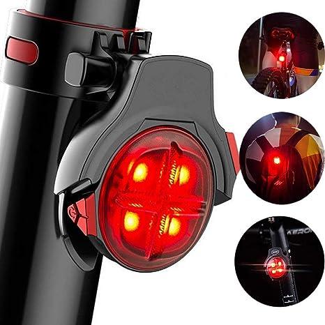 Bike Rear Tail Light Flashing Safety Warning Lamp USB Rechargeable Waterproof UK