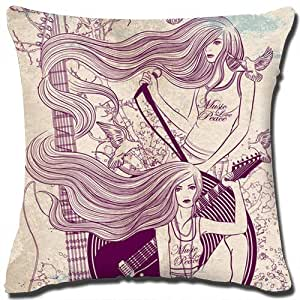 Cotton Throw Pillow Inserts : Amazon.com: Art Cotton Linen Square Decorative Throw Pillow Cover Made From 100% High Quality ...