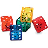 Learning Resources Dice In Dice Bucket, Math Toy, Manipulative,  Set of 72, Ages 6+