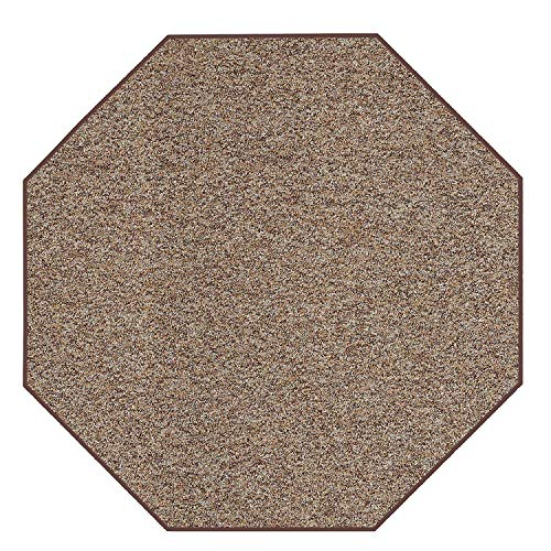 - Home Queen Pet Friendly Indoor Outdoor Artificial Turf Loop Area Rugs with Heavy Duty Non Skip Backing Area Rug Ivory Tan - 8' Octagon
