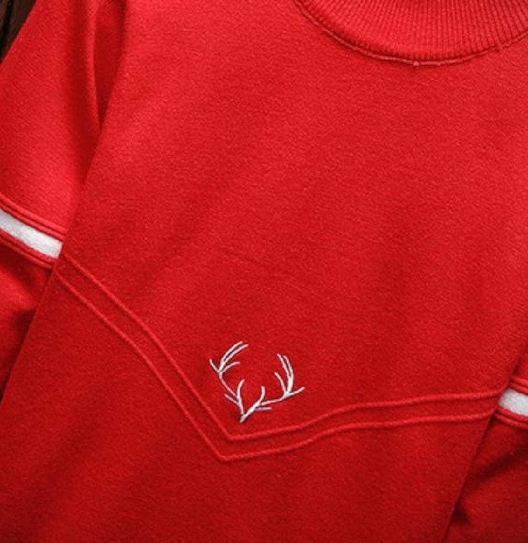 Highisa Men Oversized Outerwear Tops Pullover Basic Cartoon Sweater