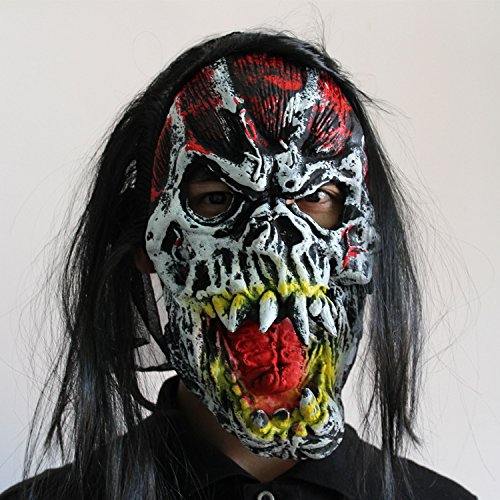 Uspeedy Zombie Mask Head Mask Horror Mask for Halloween Costume Party (1 4 Zombie (Halloween Over Meme)