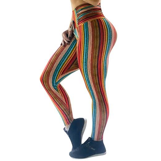 4Clovers High Waist Yoga Pants for Women -Drawstring Stripe ...