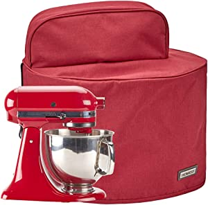 HOMEST Stand Mixer Dust Cover with Pockets Compatible with KitchenAid Tilt Head 4.5-5 Quart, Empire Red (Patent Pending)