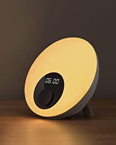 White Noise Machine Table Lamp, Gladle 24 Non-Looping Natural Sounds Machine for Baby Adults, with Dimmable RGB Night Light, Timer & Touch Control, Portable Sleep Therapy Lamp for Bedroom Travel