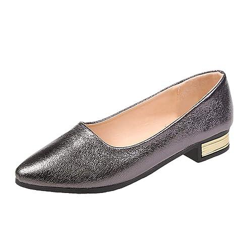 Mocasines Planos para Mujer, Mocasin de Vestir mocasín de Fiesta Plateados Zapatos Dorados Marron Mocasines Sandalias: Amazon.es: Zapatos y complementos