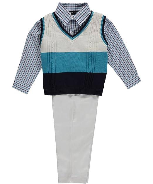 03ec7897116 Andrew Fezza Little Boys  infantil diseño de rayas tenis juego de chaleco  de azul marino