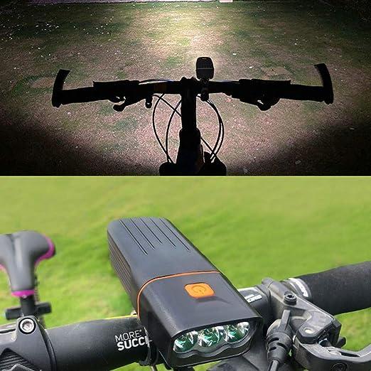 Rechargeable USB MTB TK3 DEL Projecteur Avant Lumière étanche Vélo de Route Phare