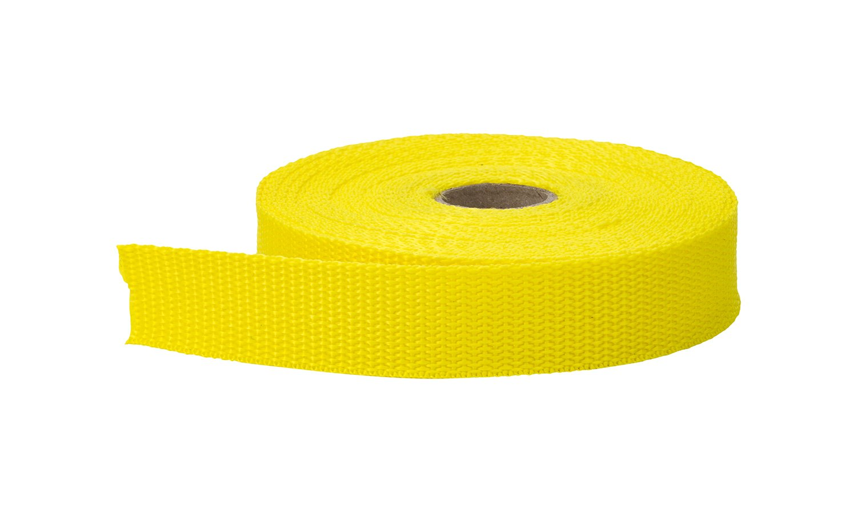 10 yd Yellow PEARL 1.5 Wide Polypropylene Webbing