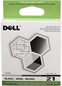 Dell 21 Black Ink Cartridge in Retail Packaging