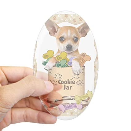 Chihuahua Cookie Jar Stunning Amazon CafePress Chihuahua In Cookie Jar Oval Bumper