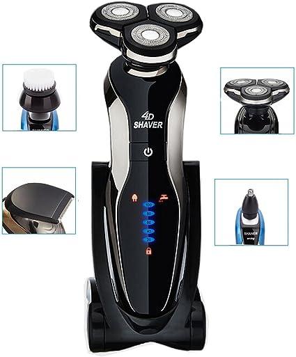 BEMAGSA máquina de afeitar afeitadoras eléctricas,de los hombres Multifunción y Tres cabezas Giratoria 4 en-1, B1298 (Plata): Amazon.es: Belleza