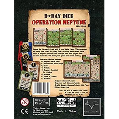 Valley Games D Day Dice Operation Neptune Expansion: Toys & Games