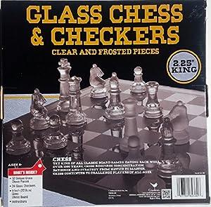 Classic Glass Chess Checkers Game Strategy Board Fun